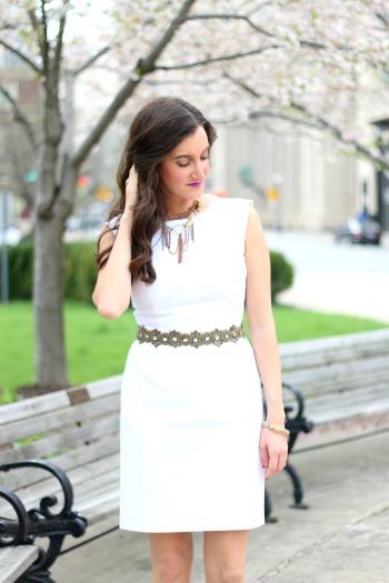 Deepa Gurnani Belt with White Dress