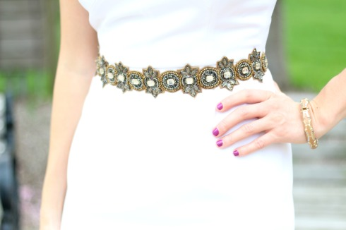Deepa Gurnani Beaded Belt