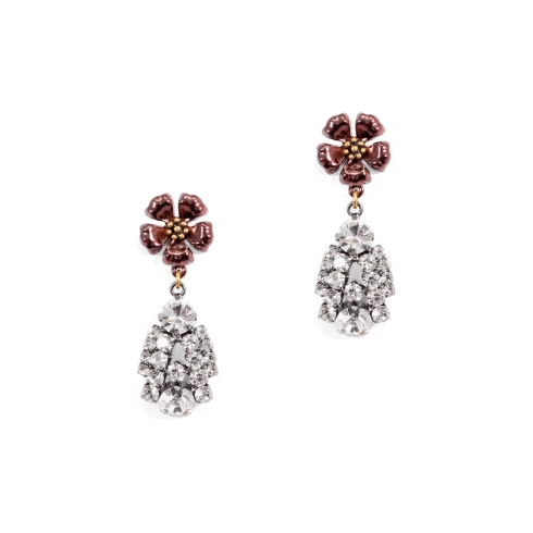 Lulu Frost Flower Deco Drop Earrings