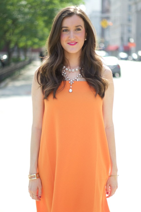 Orange Cocktail Dress