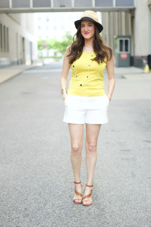 Yellow and White Summer Outfit