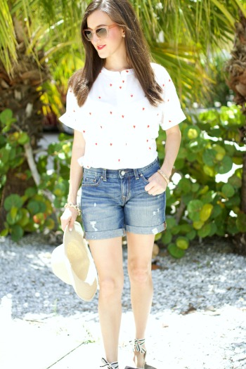 Loft French Hen Shirt Gap Denim Shorts