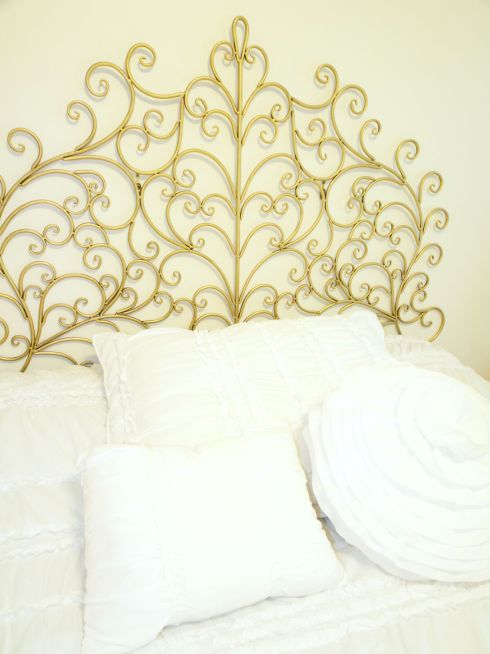Gold Scroll Headboard
