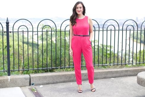 Pink Crochet Jumpsuit