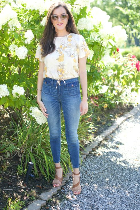 Madewell Denim with Crop Top