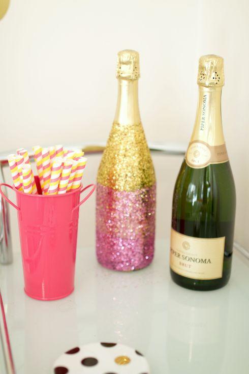 Ombre Glitter Champagne