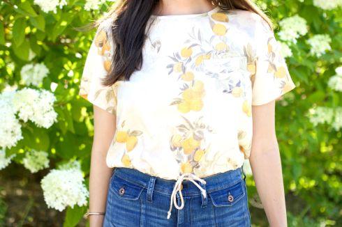 Samantha Pleet Lemon Print Crop Top