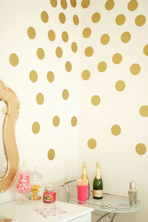 Urbanwalls Gold Polka Dot Wall Decals
