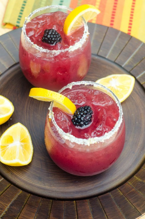 blackberry lemonade margarita