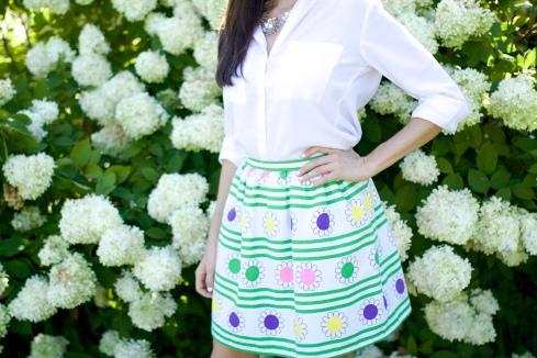 Flower Print Vintage Skirt