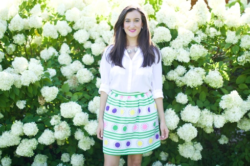 Vintage Floral Skirt