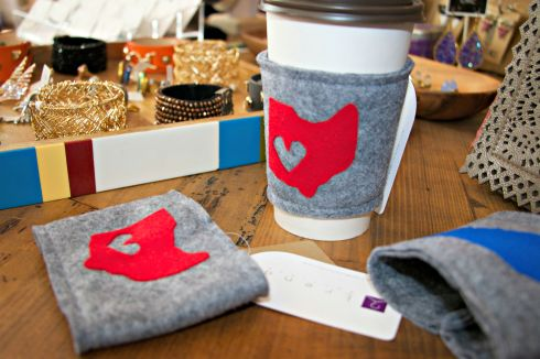 Ohio Felt Coffee Sleeves