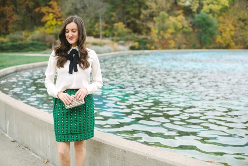 Anthropologie Garden Glimmer Skirt