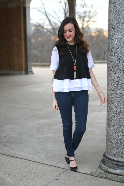 Anthropologie Ruffle Hem Top