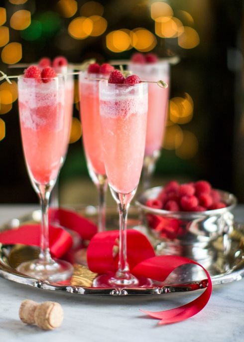 Raspberry Cream Mimosa Recipe