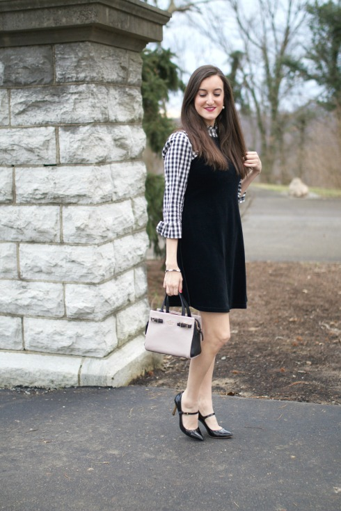 How To Layer A Dress and Blouse