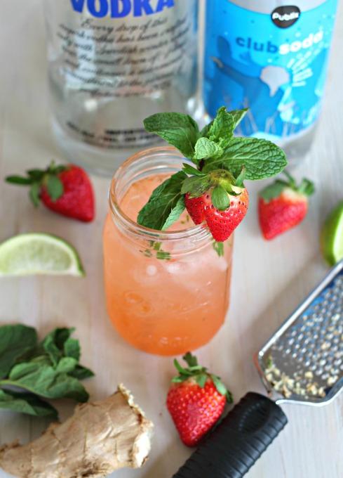 strawberry ginger fizz