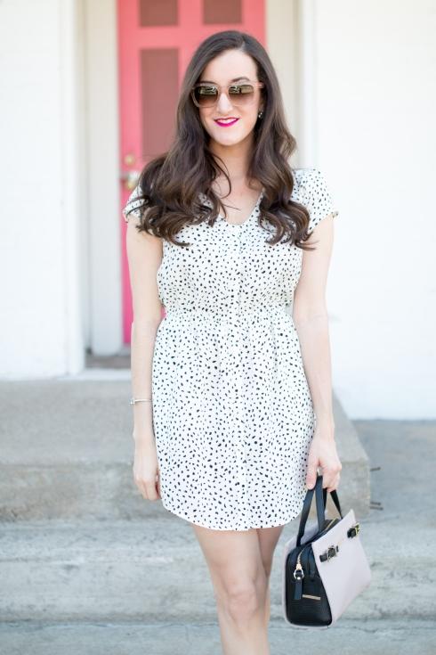 Black and White Shirtdress