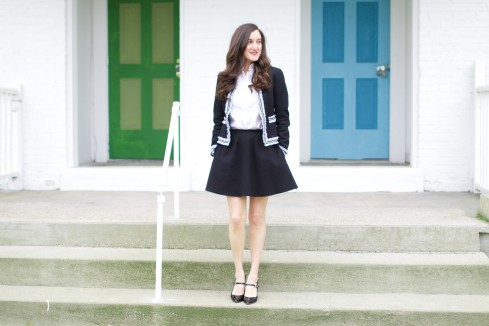 Feminine Black and White Outfit