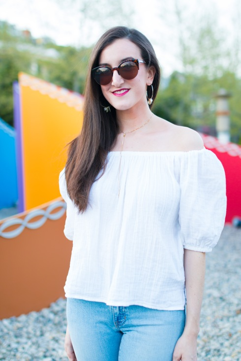 Off The Shoulder Top White