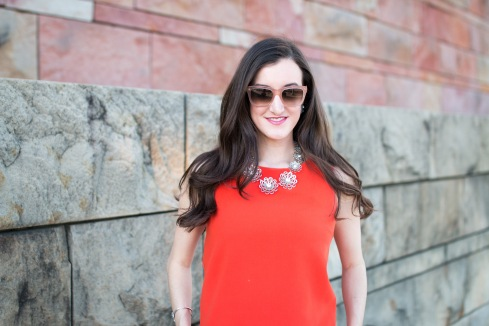 Sleeveless Orange Top