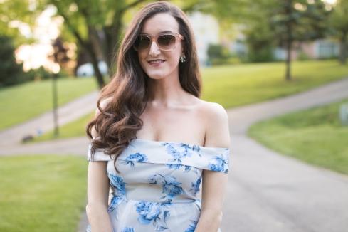 Off The Shoulder Floral Dress