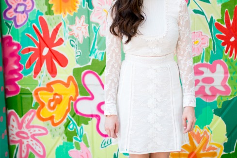 Long Sleeve Sheer Lace Dress