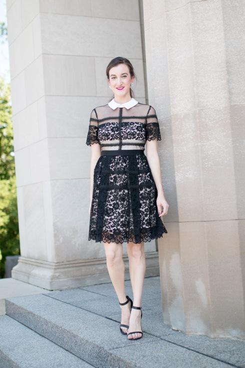 Collar Lace Dress