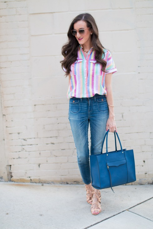 Colorful Striped Shirt JCrew