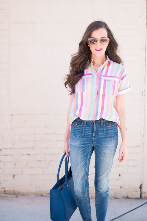 Colorful Striped Shirt JCrew