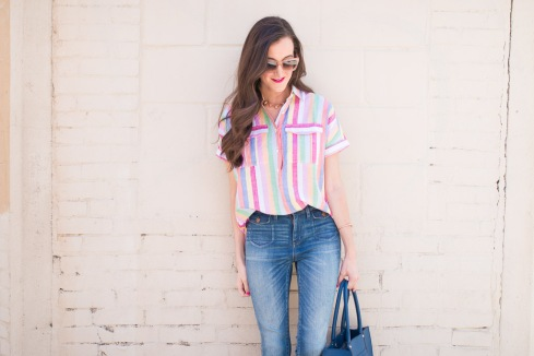 Colorful Striped JCrew Shirt