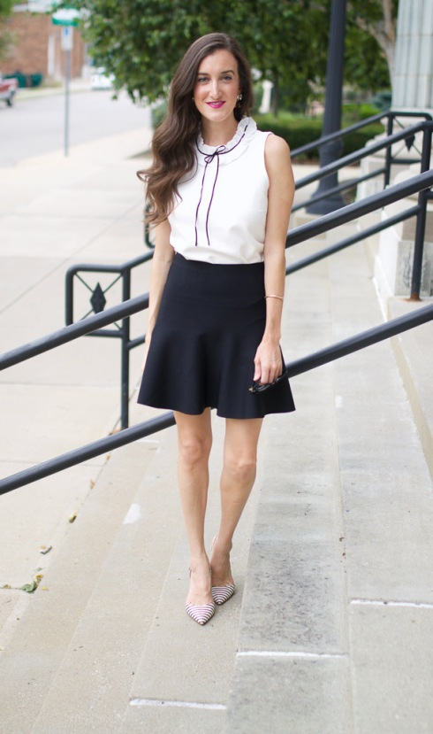bcbg fit and flare skirt