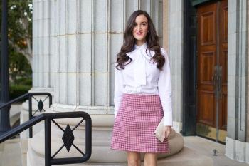 JCrew Houndstooth Skirt
